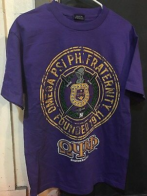 Omega Psi Phi Fraternity Crest Shirt- Size 4XL- New!