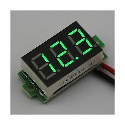 "SMAKN12/24V 0.36"" 3~30V Small Digital DC Panel Mount Voltmeter Car Battery Vo..."