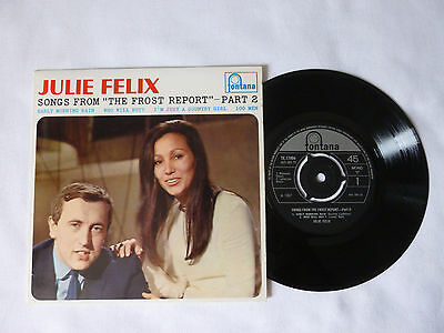"Julie Felix ~ Songs From The Frost Report ~ Pt 2 ~ Near Mint 1967 Uk 7"" Vinyl Ep"