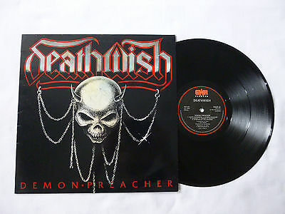 Deathwish ~ Demon Preacher ~ Ex+/ex ~ 1988 Uk 1St Press Vinyl Lp ~ Superb Audio