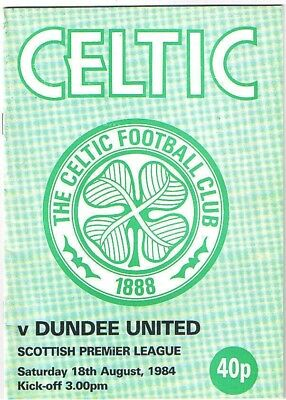 Celtic v Dundee United 1984/5 august