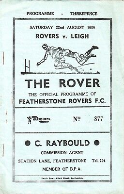 Featherstone Rovers v Leigh 1959/60
