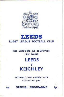 Leeds v Keighley 1974/5 Yorkshire Cup