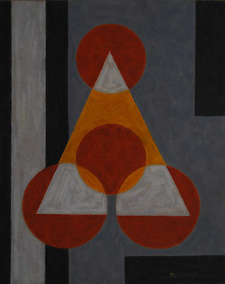 Emil Bisttram Taos / Santa Fe Modernist - 1941 Geometric Abstraction