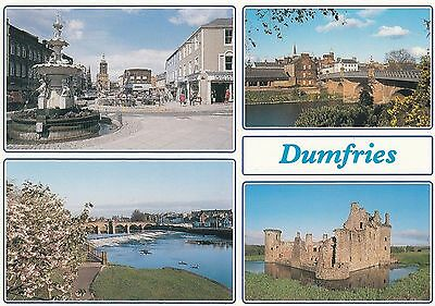 Postcard - Dumfries - 4 views