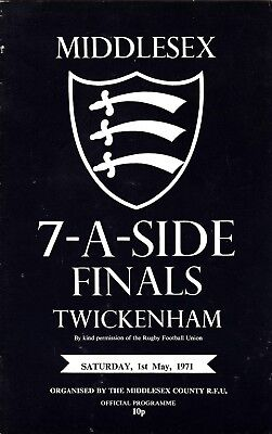 Middlesex Sevens Finals 1971 @ Twickenham