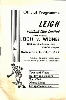 Leigh v Widnes 1963/4