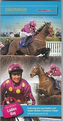 Racecard - Cheltenham 16th March 2011 Queen Mother Champion Chase