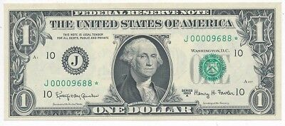 1963-A $1 Federal Reserve Note-Very Low Serial # Star Note-Unc!! Ships Free!