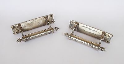 Antique Chromed Brass Pair Of Handles/knobs