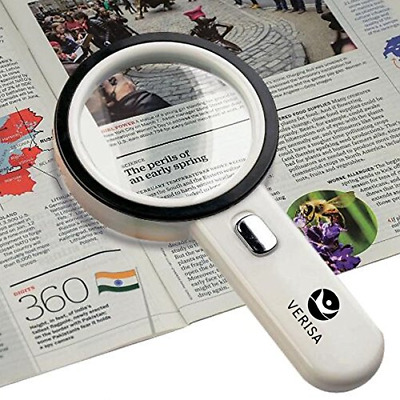 12 LED Light 20X Handheld Illuminated Magnifier Reading Magnifying Glass Lens