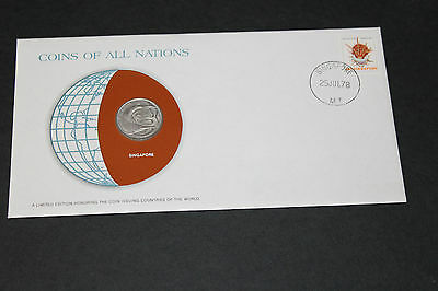 Singapore Coins Of All Nations 1977 20 Cent Coin Unc