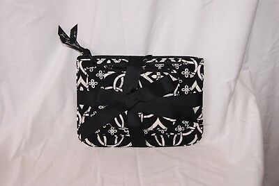 Vera Bradley Black Cosmetic Trio Concerto Bags Set of 3