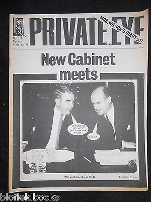 PRIVATE EYE - Vintage Satirical Political News Humour Magazine - 8th March 1974