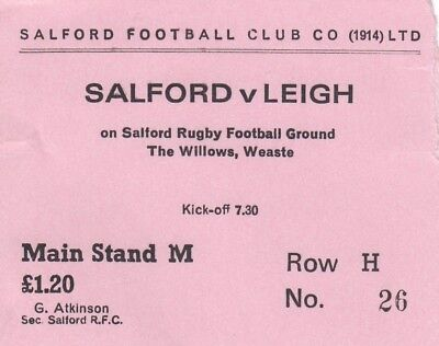 Ticket - Salford v Leigh (Undated)