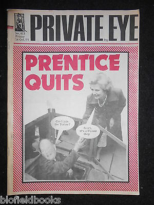 PRIVATE EYE - Vintage Satirical Political Humour Magazine - 14th October 1977