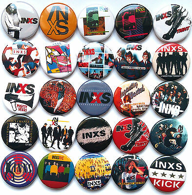 INXS Pins Buttons Badges Set Lot of 25