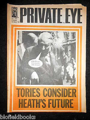 PRIVATE EYE - Vintage Satirical Political Humour Magazine - 18th October 1974