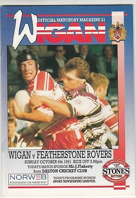 Wigan v Featherstone Rovers 1991/2 (6 Oct)