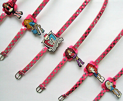 SHOE CHARM BRACELETS (W1) - inspired by  MONSTER HIGH - **** PACK OF 6 ****