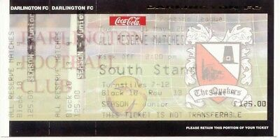Ticket - Darlington Reserve Matches