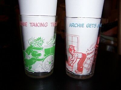 Vintage 1971 1973 The Archies Comics Jelly Glasses