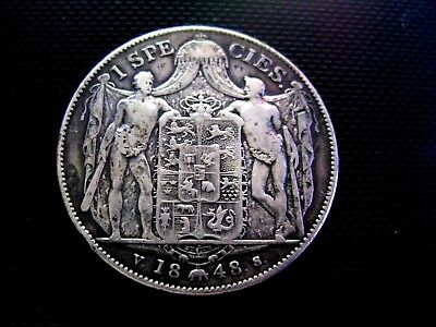 1848 Denmark 1 Species Very Rare Large Silver Coin~High Quality Sharp Details!!!