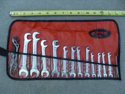 """14 Piece Set Williams Superrench Thin Right Angle Wrenches Ignition 3/16"""" thru 5"""