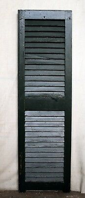 """3 avail 14""""x49"""" Vintage Antique Old SOLID Wood Wooden Window Shutter Louver Door"""