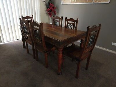 Rustic Timber 6 Seater Dining Table