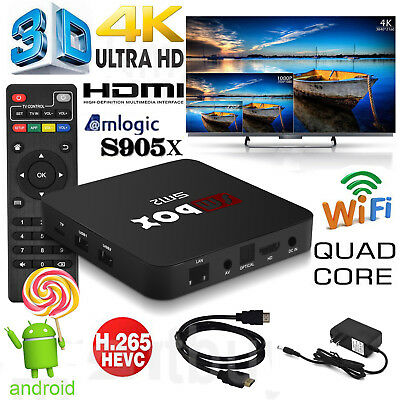 4K Quad Core Android 6.0 TV Box Wifi Media Player S905X Latest 16.1 Ultra Sports