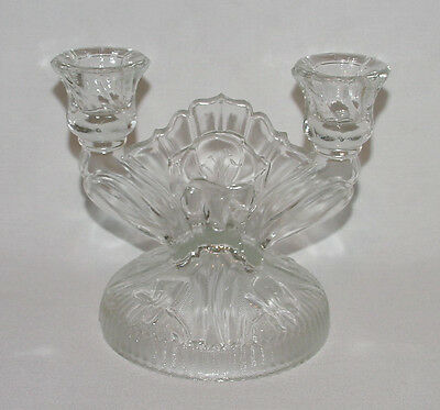 "PERFECT Vintage ""IRIS & HERRINGBONE"" Double Candlestick - 6 Available!"