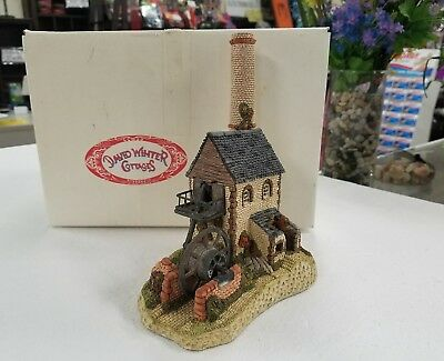 David Winter Cottage CORNISH ENGINE HOUSE 1987 w/ Box, John Hine Studios