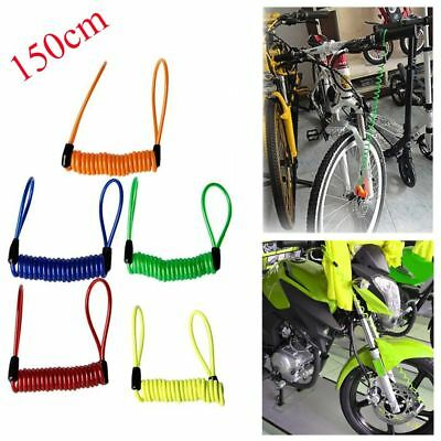 Motorcycle Safety Lanyard Spring Coil Wire Disc Brake Lock Reminder Cable 2017