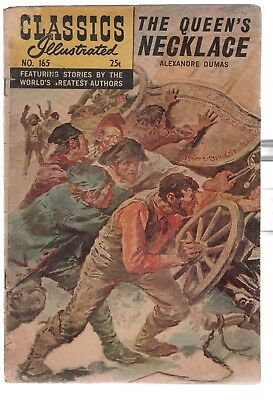Classics Illustrated # 165 - The Queen's Necklace - HRN 166 - Fall 1968 In Good