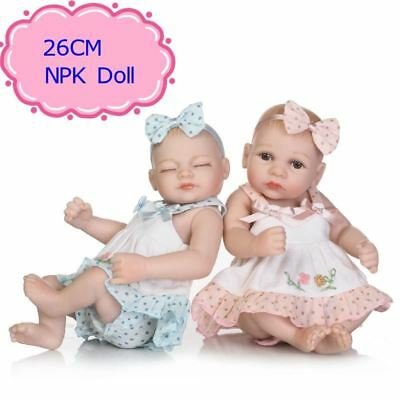26cm Soft Vinyl Reborn Dolls Full Body Silicone Baby