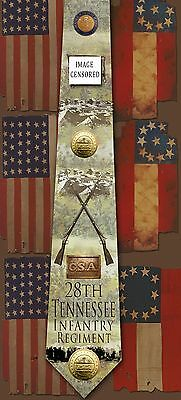 New 28th Tennessee Infantry Regiment poly satin neck tie