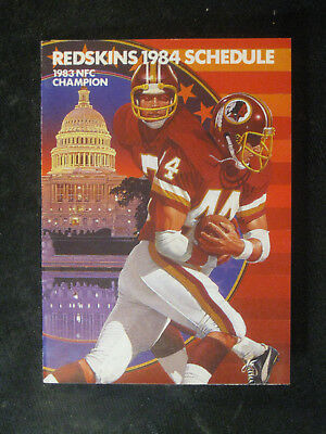 Vintage 1984 Washington Redskins Pocket Schedule w Darrell Green Frito Lay  NMMT 17c6d8c8f