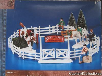 Dept 56 2000 Snow Village Buck's County Stables 9 pc set New 56.55363 Christmas