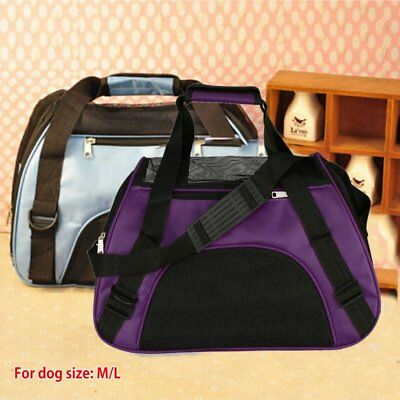Pet Carrier Soft Sided Large Cat / Dog Comfort Travel Bag Airline Approved HM