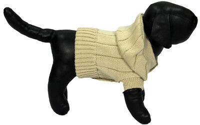 Tan Knit Sweater for Small Dogs
