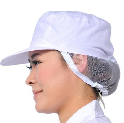 Unisex White Catering Hat Chef Bakers Bouffant Cap Food Hygiene Snood Cap t