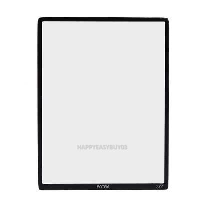 FOTGA Optical Glass Hard LCD Screen Protector Film For 3.0 inch DSLR Camera r#H3