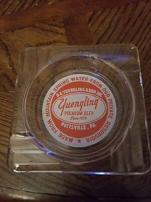 (Vintage) Yuengling Premium Beer Glass Ashtray Pottsville Pa