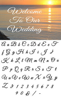 Alphabet Letter stencil #166 A - Z & numbers  2, 3, 4, 5 or 6cm sizes FREE POST