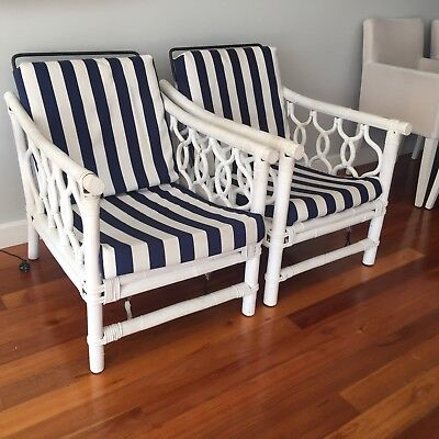 Lounge Chair Bahamas Style Cane Outdoor Set