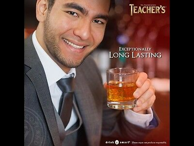 Teachers Whisky Tumbler Glass