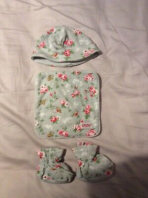 Cath Kidston Baby Hat, Flannel & Booties - 0-3months