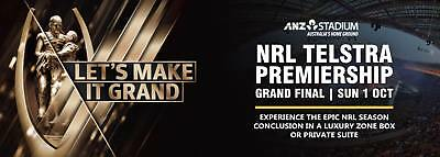 NRL GOLD MEMBERS GRAND FINAL TICKETS x2