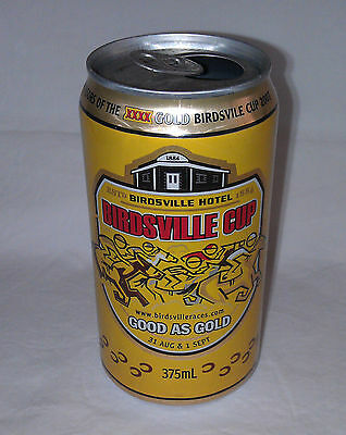 XXXX Fourex empty beer can 2007 Birdsville Cup opened at top, ringpull attached